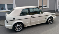<h5>   VW  Golf 1  Cabrio </h5><p>Bj. 1991, 1798 ccm, 98 PS    Serie  White</p>