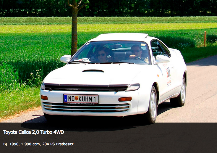Toyota Celica Turbo Bj. 1990, 1998 ccm, 204 PS Erstbesitz